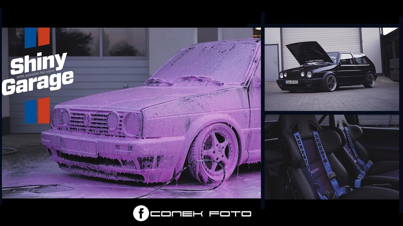 vw golf mk2 v5 shiny garage pink snow foam 4k youtube. Black Bedroom Furniture Sets. Home Design Ideas