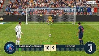 PES 2019 | PSG vs JUVENTUS | Penalty Shootout | Ronaldo vs Neymar Jr | Gameplay PC