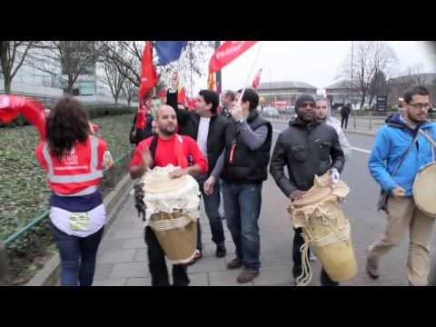British Airways crew march at IAG (International Airlines Group) in support of Iberia Staff
