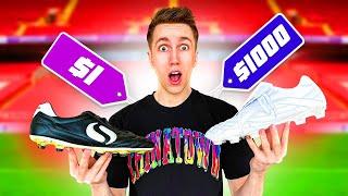 $1 VS $1000 FOOTBALL BOOTS