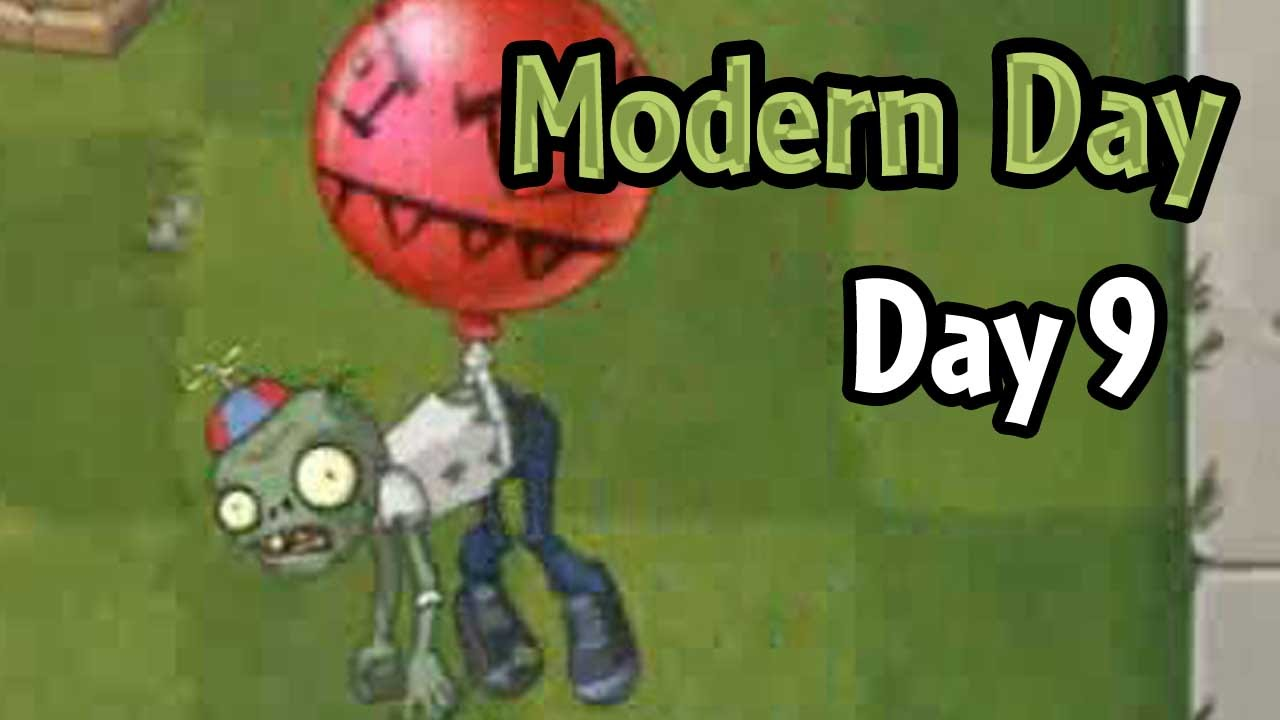 plants vs zombies 2 modern day day 9 balloon zombie youtube