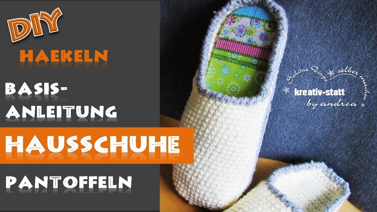 Diy Häkeln Basisanleitung Hausschuh Pantoffel Crochet Basic