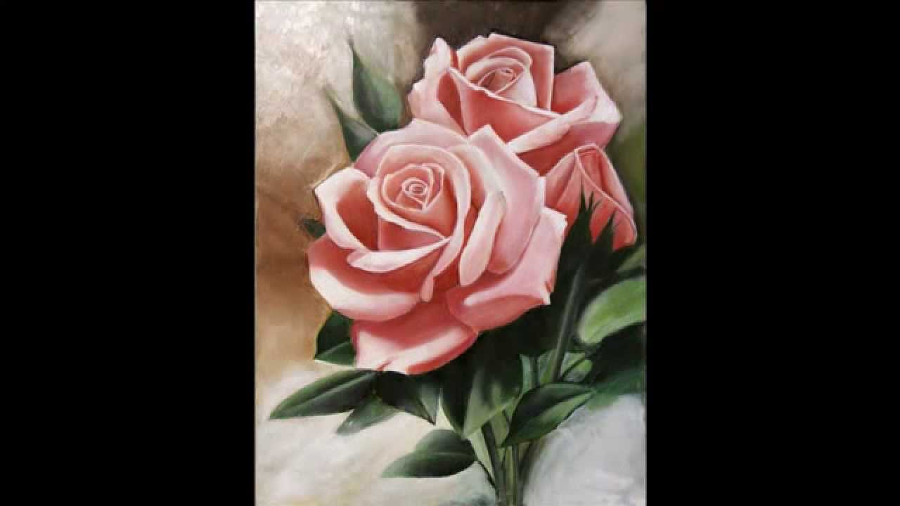 painting roses step by step youtube