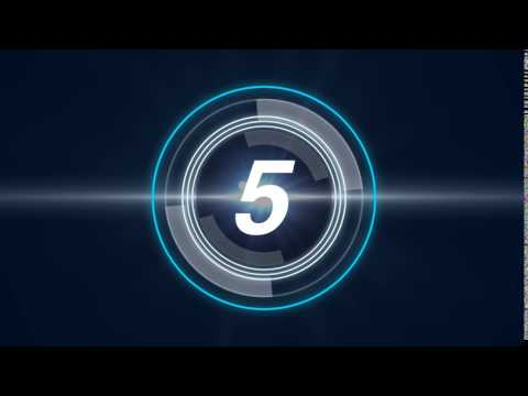 Video Intro HD Futuristic countdown timer Free Youtube Intro & Video Background