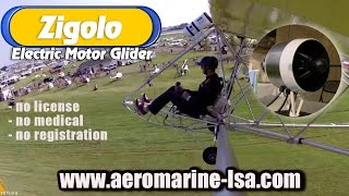 Zigolo electric powered ultralight motor glider.