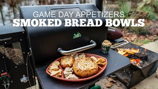 Best Game Day Appetizers | Pellet Smoked Bread Bowl aka