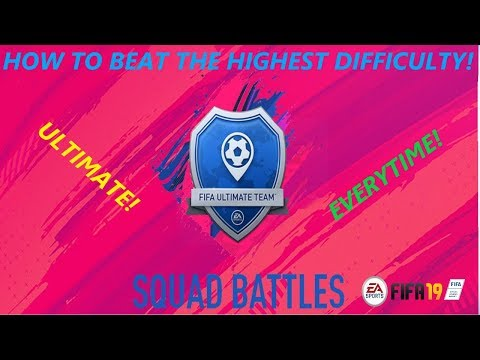 How To Beat The Highest Difficulty In Squad Battles! Works Every Time! FIFA 19!