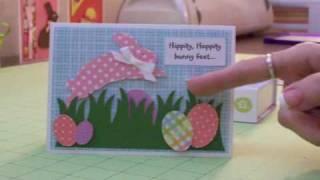 Polka Dot Bunny Easter Card