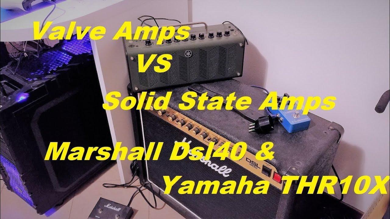 tube valve amps vs solid state amps marshall vs yamaha youtube. Black Bedroom Furniture Sets. Home Design Ideas
