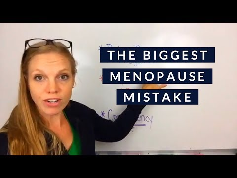 The biggest mistake women in menopause make!