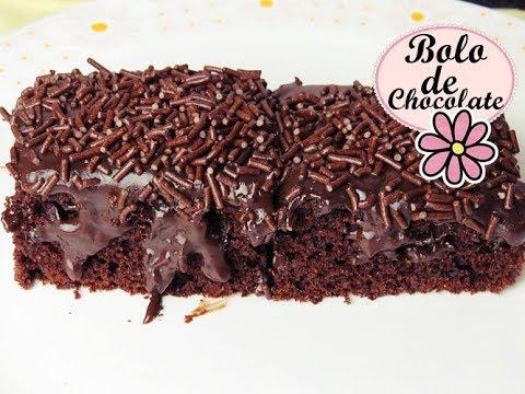 Bolo Simples De Chocolate Molhadinho E Muito Fofinho Youtube
