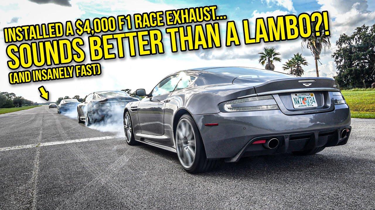 I Made My Aston Martin DBS Sound Like A PAGANI ZONDA (With A $4,000 Exhaust)