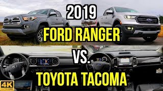 MIDSIZE TRUCK BATTLE -- 2019 Ford Ranger Lariat vs. 2019 Toyota Tacoma Limited: Comparison