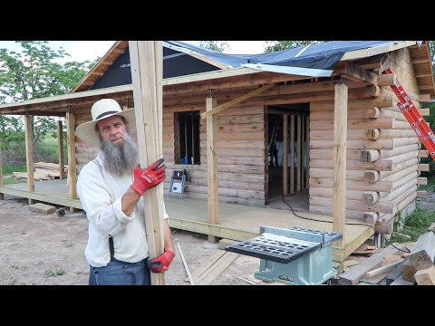 The LAST FEW PIECES! So important for the Log Home Build day 46