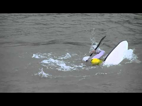 European Freestyle Kayaking Championships 2014  Squirt Boat Final - Alex Edwards Run 2