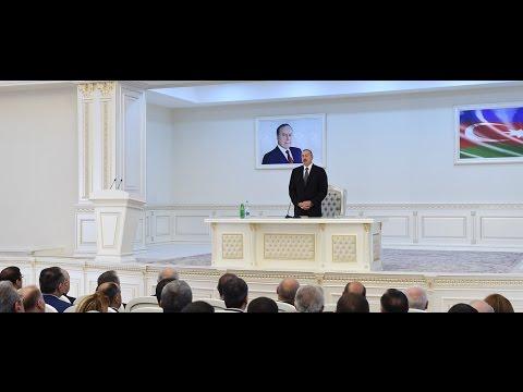 İlham Əliyevin Sumqayıtda Heydər Əliyev Mərkəzinin binasının açılışında giriş nitqi