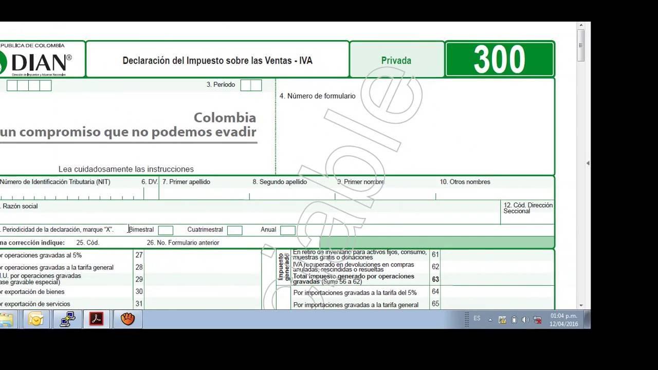 FORMULARIO 300 DIAN PDF