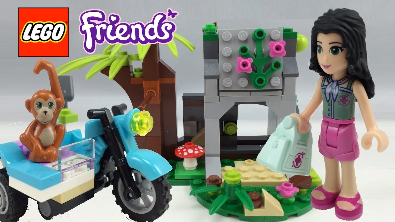 Lego Friends First Aid Jungle Bike Review 41032 Youtube
