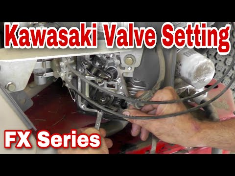 How To Set The Valves On A Kawasaki FX Series Engine With