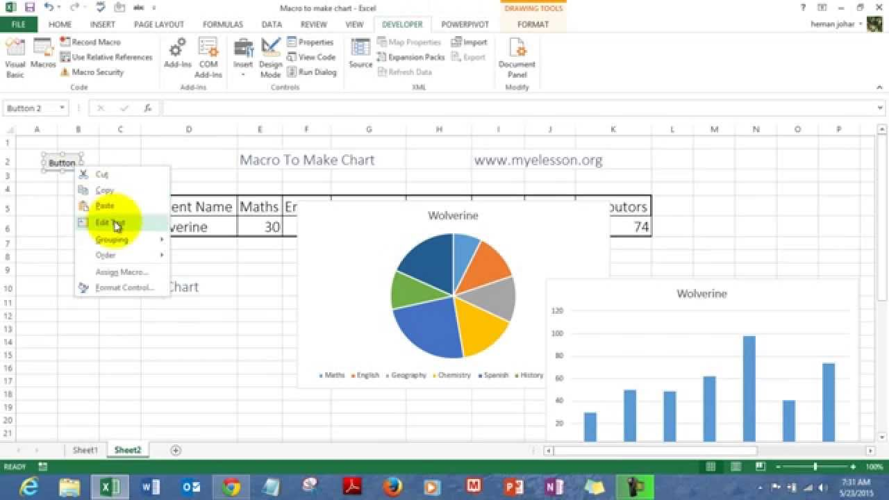 Macro to create charts in excel youtube ccuart Image collections