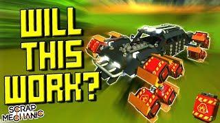 Explosive Wheels Challenge! [Your Turn!] - Scrap Mechanic Gameplay