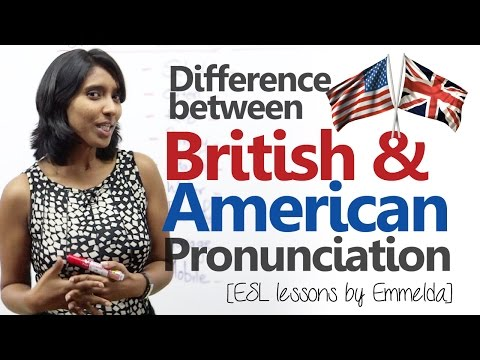 Difference between American & British English pronunciation (Improve your English speaking)