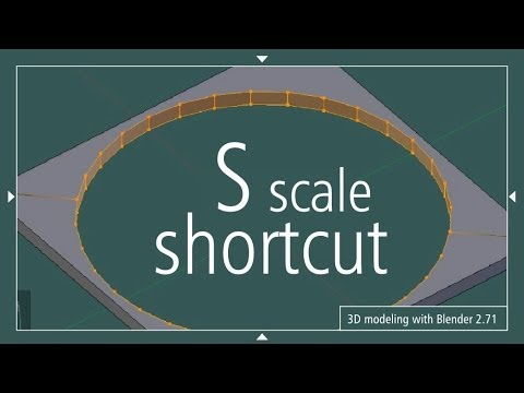 S Scale Shortcut Blender