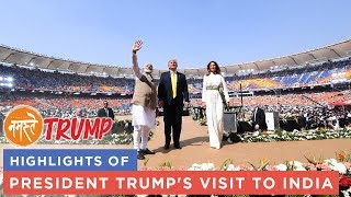 Highlights of President Trump's visit to India