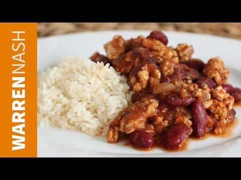 Healthy Chilli Con Carne Recipe Made with Turkey Recipes by Warren Nash