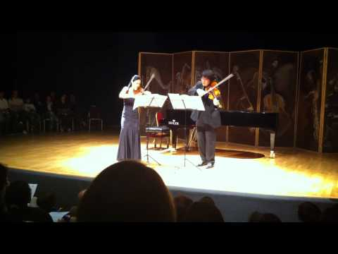 Kyung Sun Lee and Sang Jin Kim plays Martinu 3 Madrigals 1st movement.