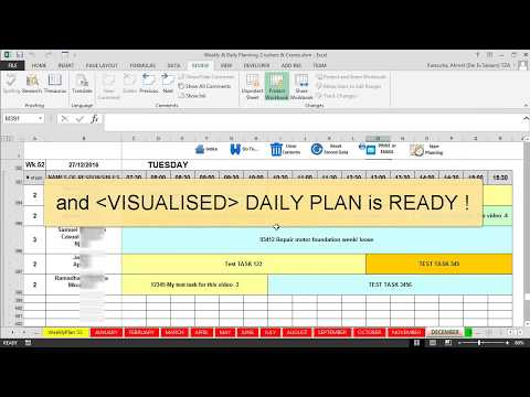 Features Maintenance Planning and Scheduling Excel Template