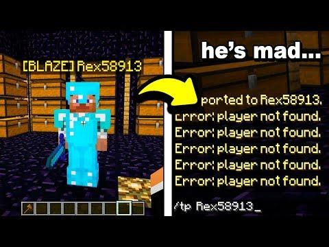 When A Minecraft Hacker Logs Offline To Avoid BAN...