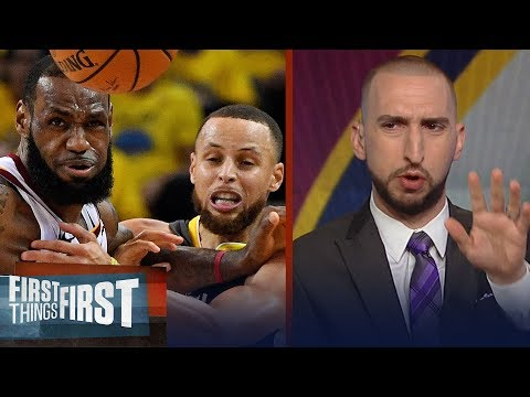 Nick Wright on how Jerry West's Finals MVP affects LeBron, Curry's odds | NBA | FIRST THINGS FIRST