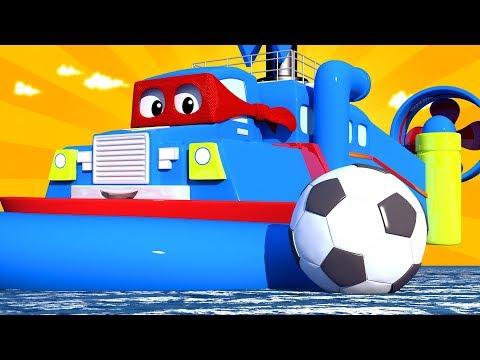 Especial FIFA - O barco flutuante  Carl o Super Caminhão na Cidade do Carro  Desenho animado