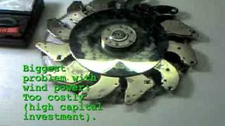 Home built electricity magnet generator alternator turbine hard drives