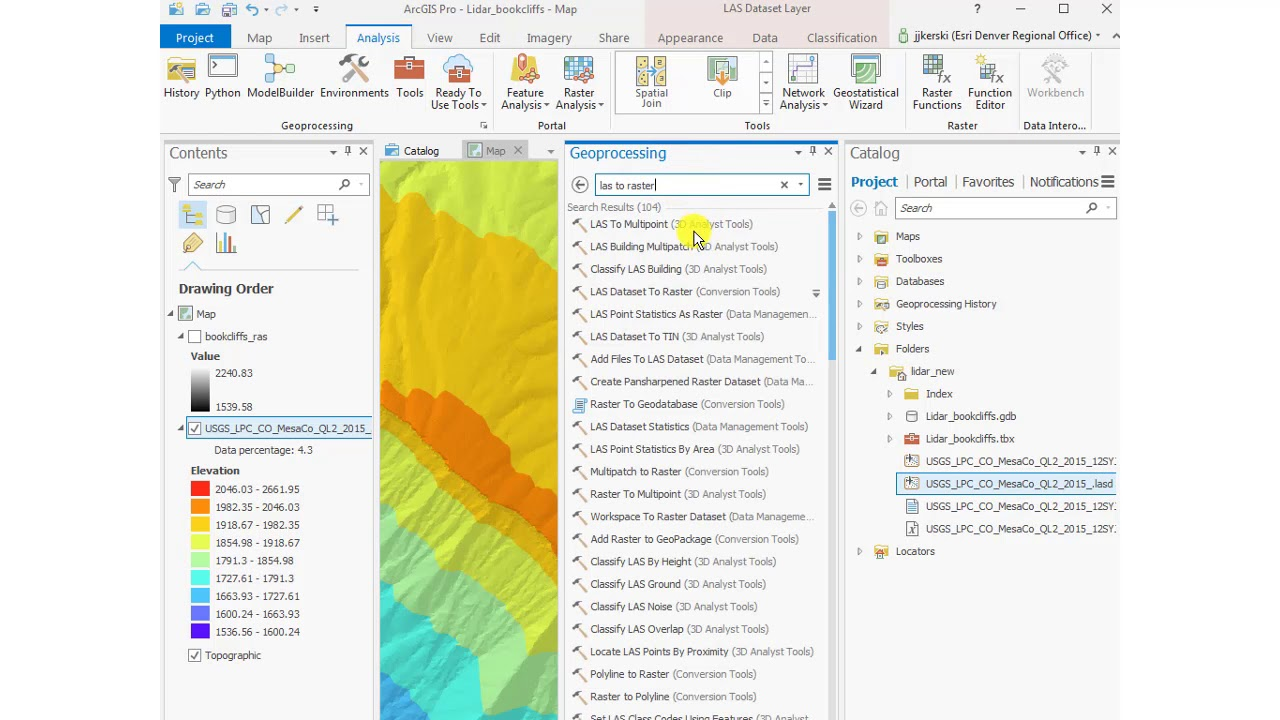 Downloading Using and Analyzing Lidar Data in ArcGIS Pro