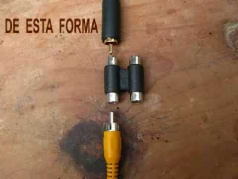 Como conectar pc S-Video a TV RCA