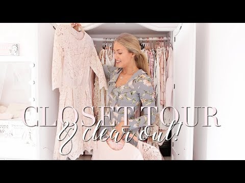 WARDROBE TOUR & CLEAR OUT | Freddy My Love