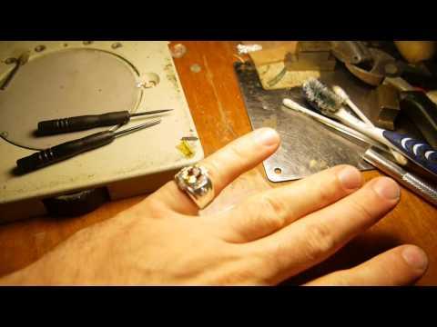 Делаем кольцо с камнями из серебра!!
