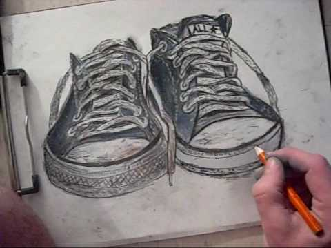 How to draw Converse All,Stars, Low Rise