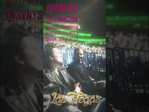 Synyster Gates and M Shadows at UFC 222  03032018