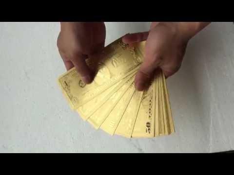 America Gold Banknote Novlety Design Large Bill Come Back