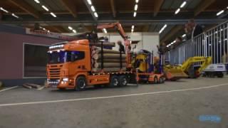 Scania R Topline RC Holz-Hängerzug - Modellbau Messe Wels 2017 - TRUCKMO