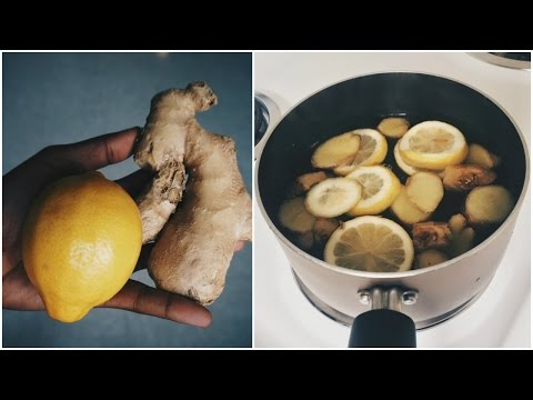 How To Get Rid Of A Cold Or Fever Overnight Naturally: Ginger Root And Lemon Tea Recipe!