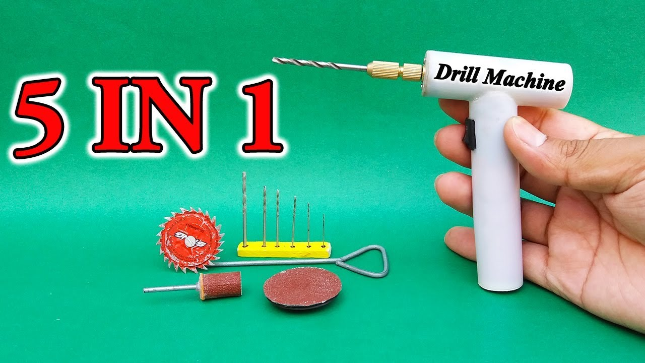 Download How To Make Electric Drill Machine From Motor & PVC Pipe| Rechargeable Drill Machine Science Project