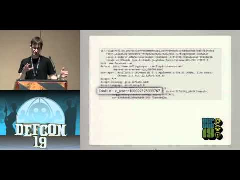 DEFCON 19: Tracking the Trackers: How Our Browsing History Is Leaking into the Cloud (w speaker)