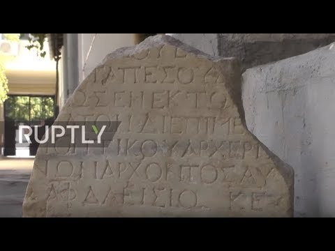 Russia: Archaeologists uncover ancient marble tile near Kerch