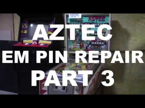 AZTEC Pinball Repair Part 3   FRIED Coil & Sticky Rollovers