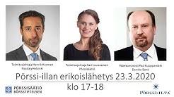Pörssi-ilta erikoislähetys yksityssijoittajille 23.3.