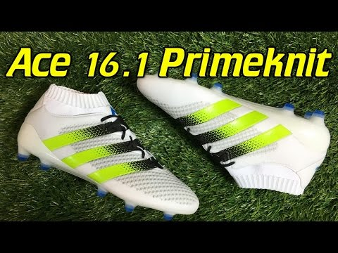 fashion style buying new recognized brands Adidas ACE 16.1 Primeknit White/Solar Green/Shock Blue ...